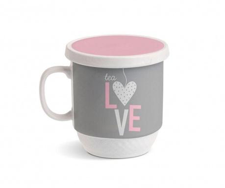 Cana cu capac si infuzor Tea Love 350 ml