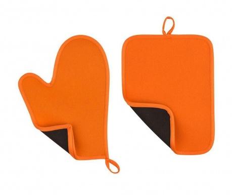 Set manusa de bucatarie si suport pentru vase fierbinti Catch Orange