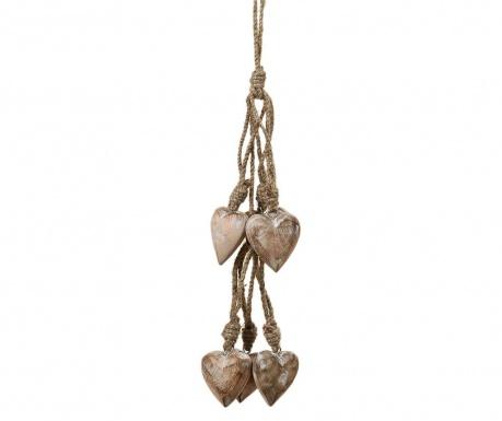 Viseča dekoracija Hearts