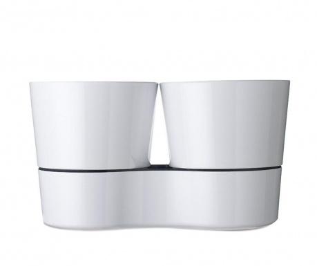Σετ 2 γλάστρες με συστήματα αυτόματου ποτίσματος Hydro Herb White
