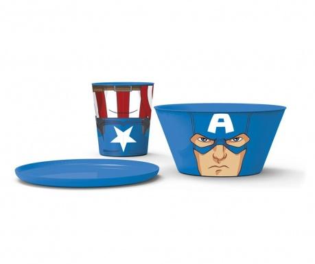 Captain America 3 darabos Étkészlet