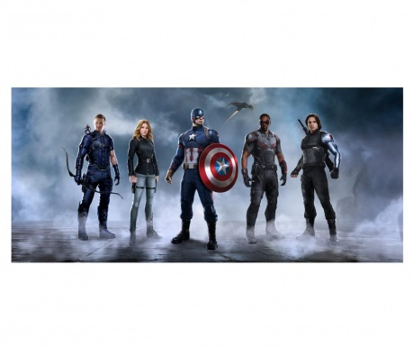 Tapeta Team Captain America 90x202 cm