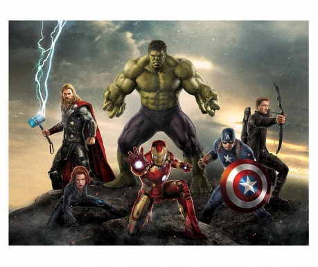 Tapeta The Avengers Team 254x360 cm