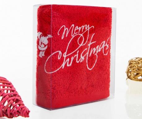Merry Christmas Red Fürdőszobai törölköző 30x50 cm