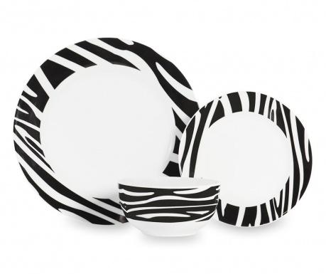 Dwunastoczęściowa zastawa stołowa Zebra