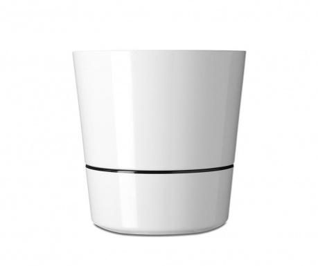 Γλάστρα με σύστημα αυτόματου ποτισμού Hydro White