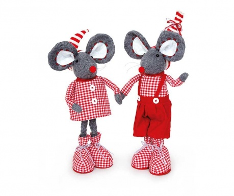 Set 2 dekoracij Mouse Love