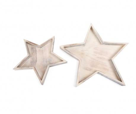 Set 2 servirnih pladnjev Star Light