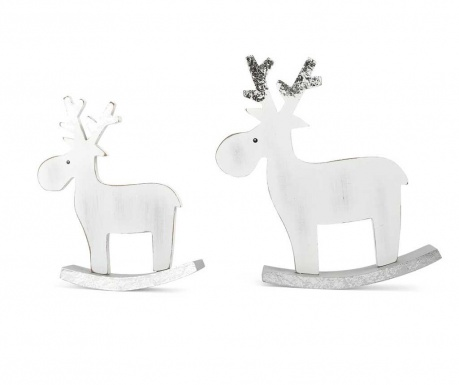 Set 2 decoratiuni Elk White