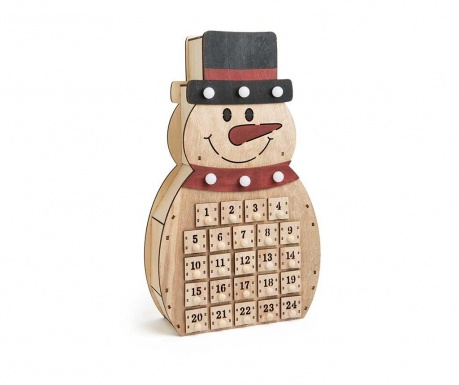 Decoratiune cu calendar Advent Snowman