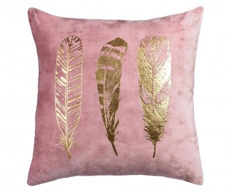 Poduszka dekoracyjna Feathers Pink Gold 45x45 cm