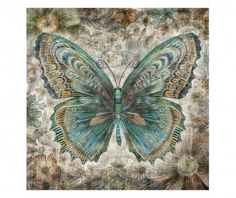 Tablou Vintage Butterfly 80x80 cm