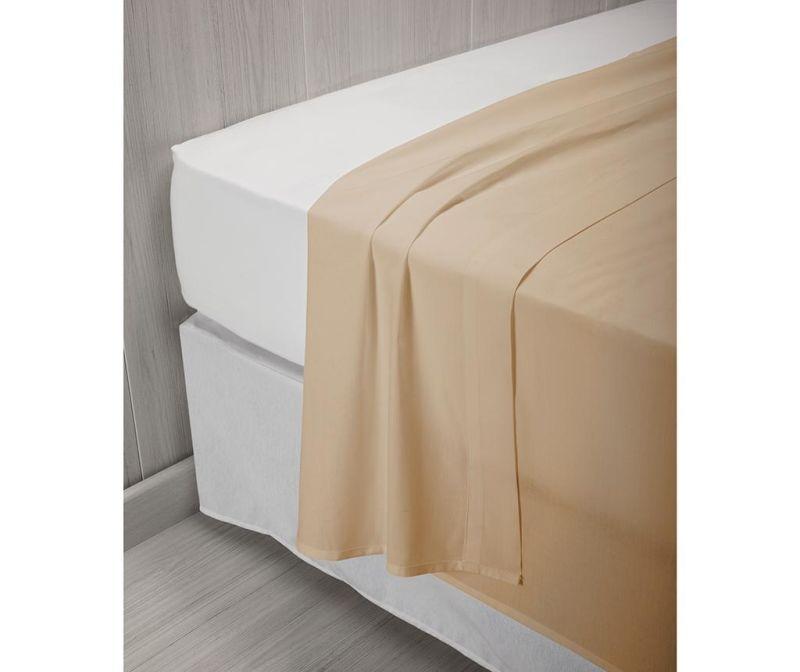 Posteľná plachta Percale Quality Light Brown 220x260 cm
