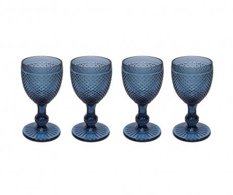 Set 4 kozarcev za vino Gaia Blue