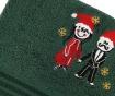 Zestaw 2 ręczników kąpielowych Christmas Couple Green 70x140 cm