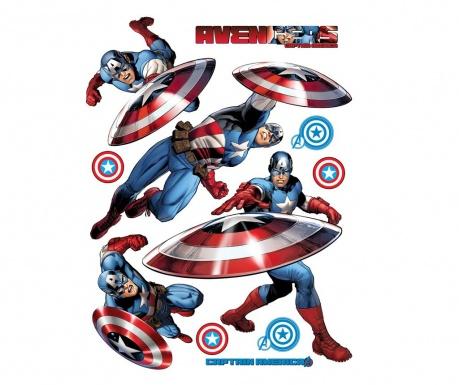 Captain America 10 db Matrica