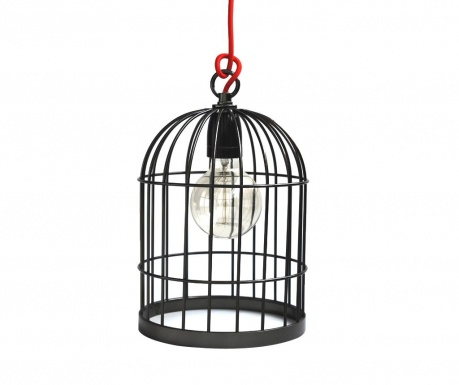 Lustra Bird Cage Black Pearl Red