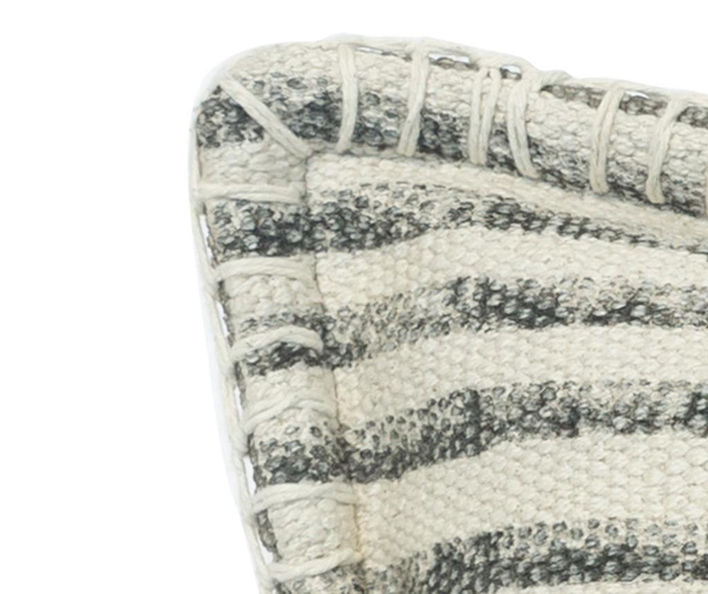 Perna decorativa Lines Beige White 50x50 cm