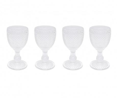 Set 4 kozarcev za vino Gaia Transparent