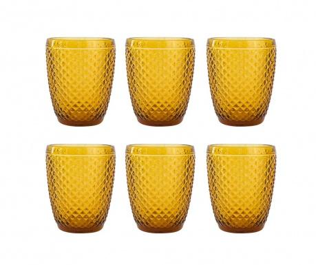 Zestaw 6 szklanek do wody Gaia Amber