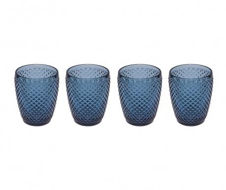 Zestaw 4 szklanek do wody Gaia Blue