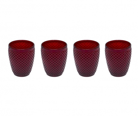 Set 4 kozarcev Gaia Red