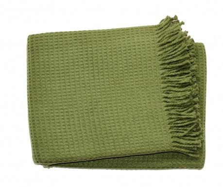 Priročna odeja Basics Waffle Moss Green 140x180 cm