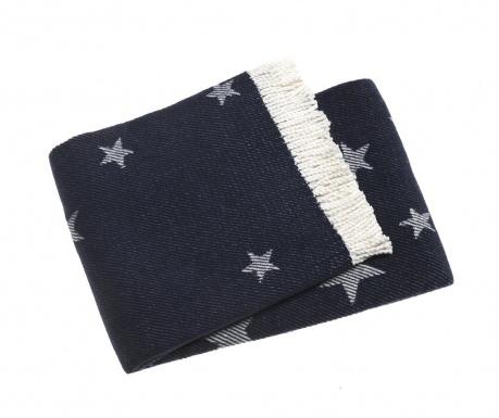 Priročna odeja Stars Navy Blue 140x180 cm