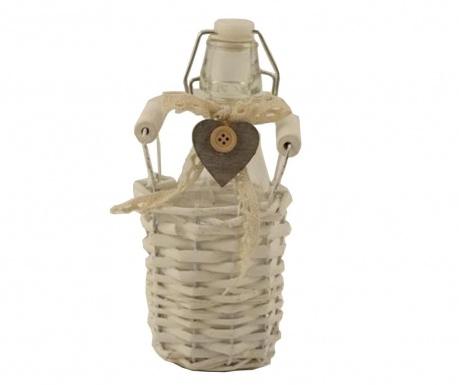 Бутилка с капачка с херметическо затваряне в кошничка Bianco 250 мл