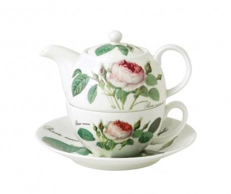 Set ceainic cu ceasca si farfurioara Rosa