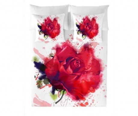 Posteljnina Double Ranforce Red Rose Extra