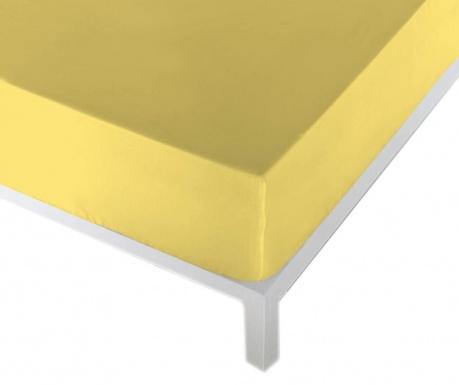 Cearsaf de pat cu elastic Eric Yellow