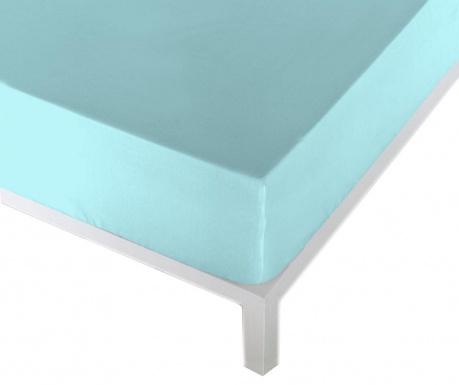 Cearsaf de pat cu elastic Eric Light Turquoise