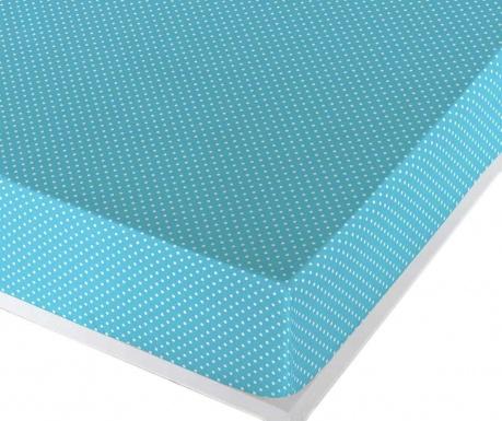 Dotty Light Turquoise Gumis lepedő 90x190 cm