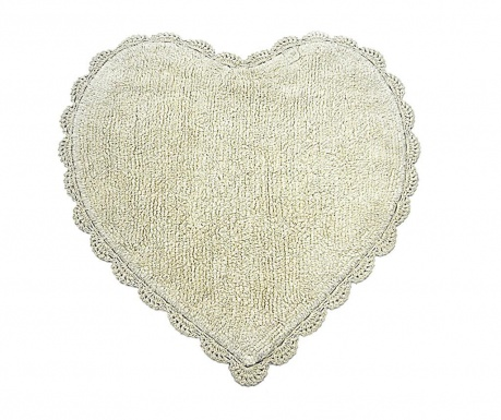 Tepih za kupaonicu Avorio Heart 60x60 cm