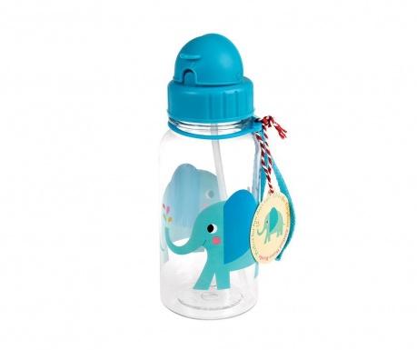 Sticla cu pai pentru copii Elvis the Elephant 500 ml