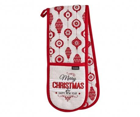 Podwójna rękawica kuchenna Merry Christmas