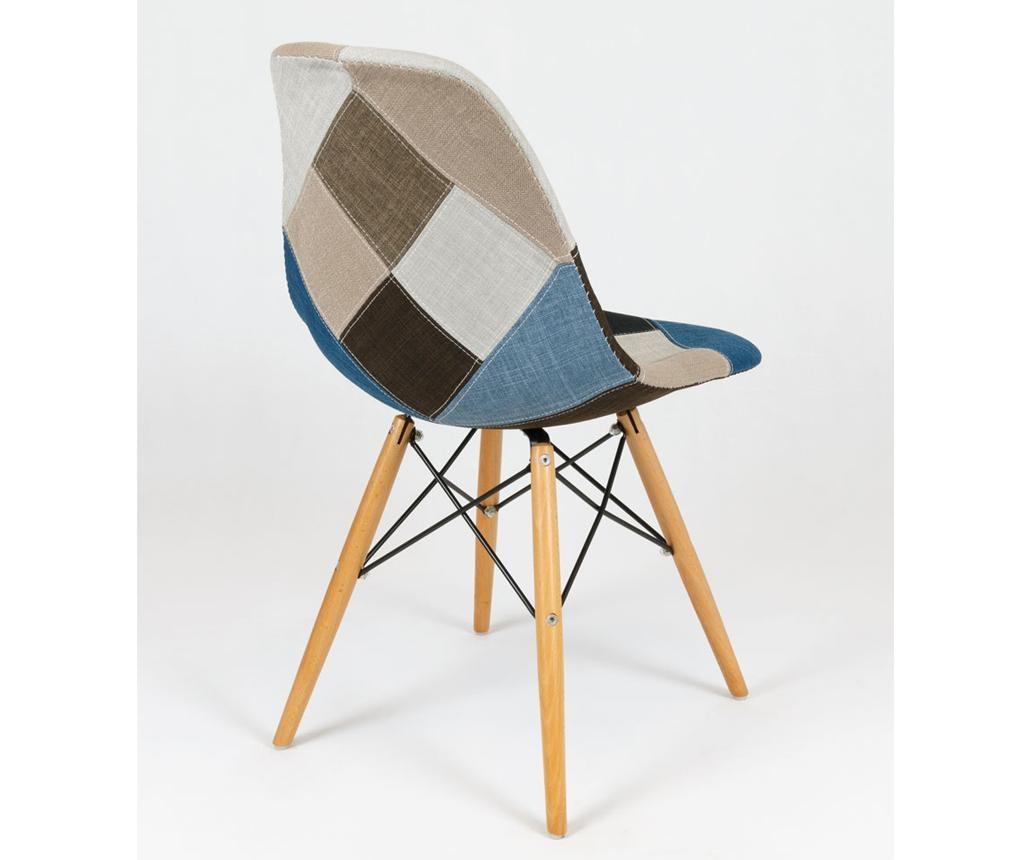 Židle Dalton Beech Upholstery Blue