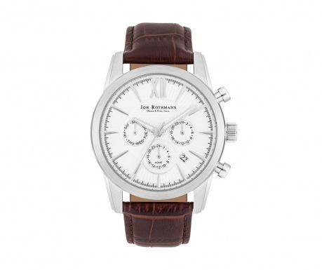 Ανδρικό ρολόι χειρός Joh. Rothman Halvor Brown Silver
