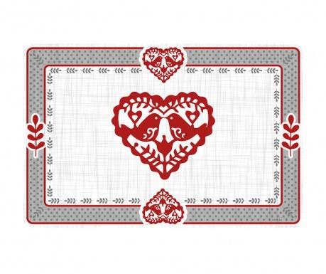 Jolly Hearts Tányéralátét 29x43 cm