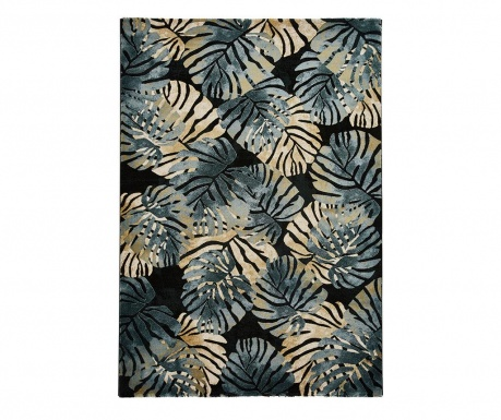Dywan Tropics Black & Blue