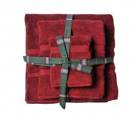 Set 3 kupaonska ručnika Kinsey Red Wine
