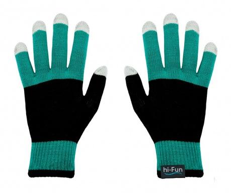 hi-Glove Knit Mint Érintőképernyős Férfi kesztyű