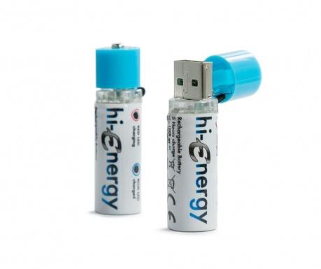 Set 2 acumulatori USB hi-Energy