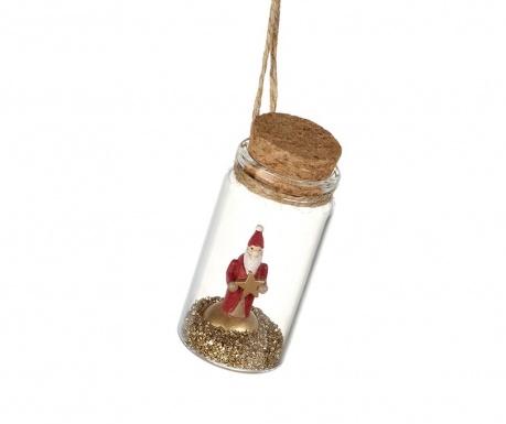 Decoratiune suspendabila Santa In Glass