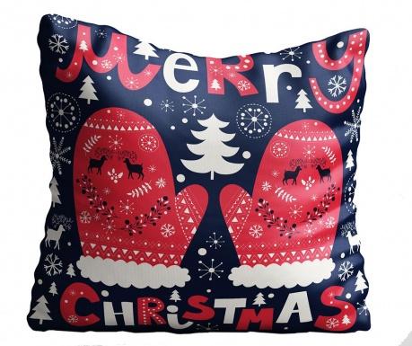 Perna decorativa Blue Christmas 43x43 cm