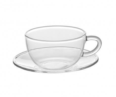 Сервиз 6 чашки и 6 чинийки Borosilicate Simple