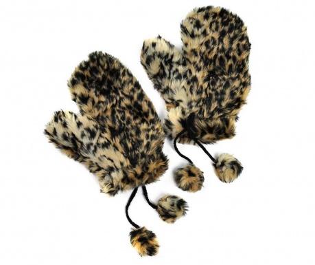 Rękawiczki damskie Leopard Print
