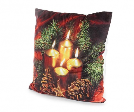 Set 2 fete de perna cu LED-uri Seasonal Warmth 40x40 cm