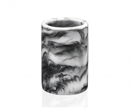 Pahar pentru baie Marble Swirl Black
